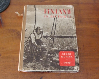 1947 Finland In Pictures, Suomi Kuvina, Beautiful Photo Book of Finland Right After WWII