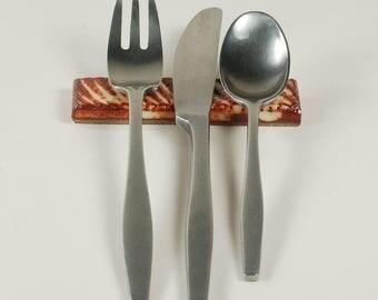 Set of 8 handmade ceramic cutlery rests