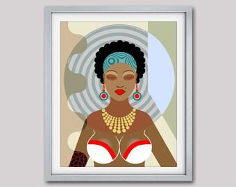 Black Queen, Black Girls Rock, Black Girls Magic, Natural Hair Art, Black Art, Dope Art, Black Girls Art, Black Woman, African American