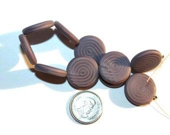Czech Glass Twister Coin Beads - Silk - 4 -18mm Beads