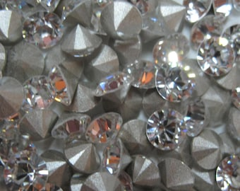 Swarovski Crystal Pointed Back Rhinestone 30SS, 6MM Jewelry Repair, Crystal Clay Project, Assemblage