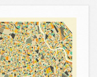 VIENNA MAP (Giclée Fine Art Print, Photographic Print or Poster Print) by Jazzberry Blue