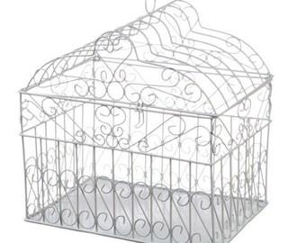 Bird Cage Card Holder Wedding Card Box Bird Cage Decor for Weddings Wire Bird Cage Card Holder Bridal shower Card Box