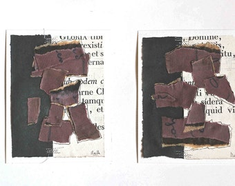 "Diptych  : ""secrets of papers"""