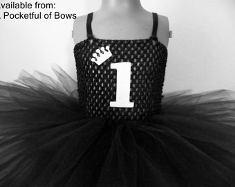 Black and Gold Tutu Dress, Birthday Girl Outfit, Age, 1/2, 1st, 2nd, 3rd, 4th