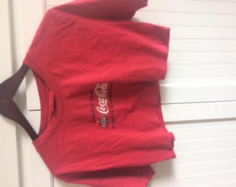 Coca Cola cut off t shirt crop top size M