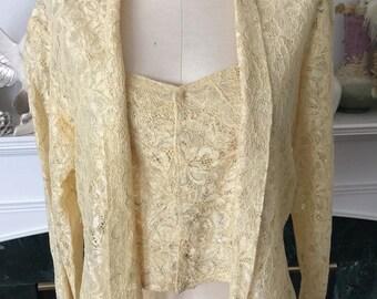 30s 40s Lace Blouse / Jacket