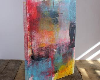 SALE Melody Original Abstract Painting on a Cradled Birch Panel