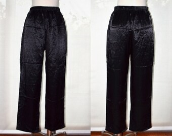 High Waisted Black Pants, Casual Pants, Piccalino Petites Women's Pants, Vintage High Waisted Pants, Hipster, Elastic Waist