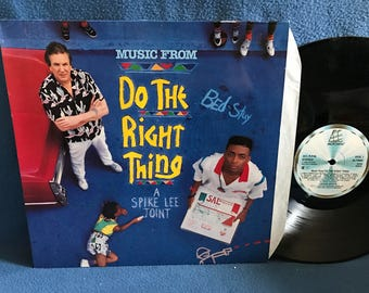 """RARE, Vintage, Do The Right Thing - """"Original Soundtrack"""" Vinyl LP Record Album, OG First Press, Public Enemy,Steel Pulse, Spike Lee Joint"""