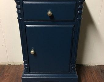 Marine Blue Vintage Table