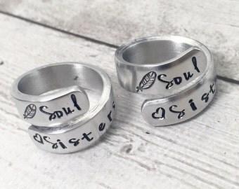 Friendship Rings - Matching Rings - Soul Sisters - Best Friend Rings - Bridesmaids Gifts - Bridesmaids Rings - Greek Sisters - Step Sisters