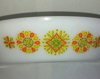 Vintage 60's Glasbake - 2 Section Oval Baking Dish