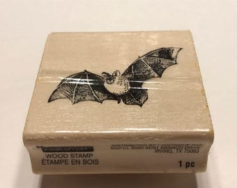 Bat Rubber Halloween stamp, 45 mm (BB1/1)
