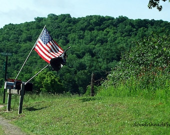 Arkansas Ozarks photography 8 x 10 American Flag photograph