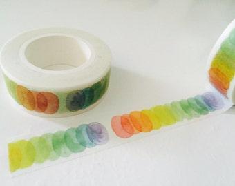 Rainbow Circles Washi Tape
