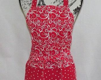 Red Swirl Apron