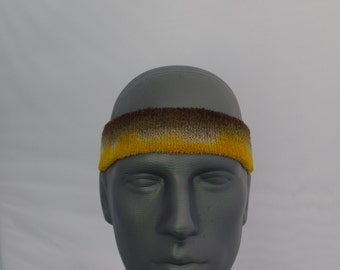 Tie dyed all cotton french terry stretch headband or sweatband
