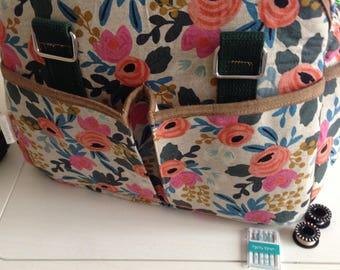 Jumbo Custom Diaper Bag , Stylish Diaper Bag,  Travel Barrel Bag, Canvas Diaper Bag PRE-ORDER