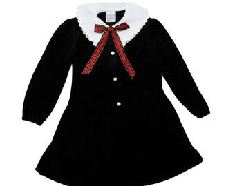 Vintage 90s Black Velvet Dress   5 Years