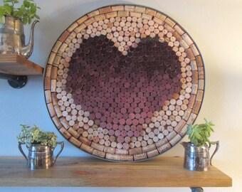 Wine Cork Wall Hanging, Wine Cork Heart, Wine Barrel Ring Wall Hanging, Wine Cork Art, Wine Barrel Ring, Wine Corks