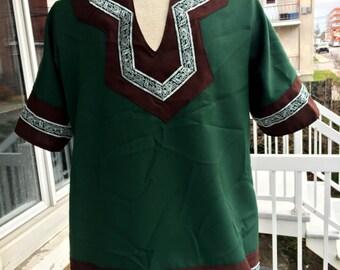 SALE Green and brown men viking tunic,larp,larping,cosplay,costume,fantasy,medieval,celtic,celtique,fantasy,man,shirt,clothing