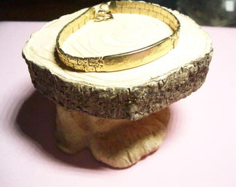 Speidel ID bracelet, in memory, goldtone identification bracelet, vintage ID bracelet