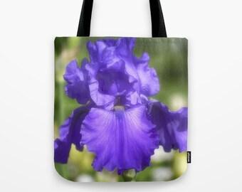 Photo Tote, Purple Bearded Iris, Tote Bag, Photo Tote bag, Flower Tote, Photography, Flower Photography