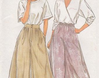 FF 90s Misses' Culottes Sewing Pattern [Simplicity 9821] Size 10-20, Women's High Waist Pants UNCUT