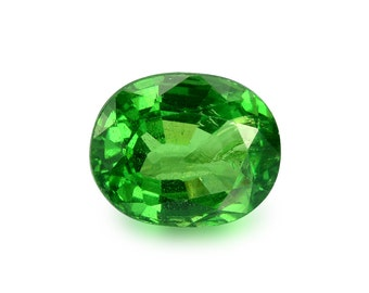 1.13ct Tsavorite Green Garnet Oval Shape Loose Gemstones (Watch Video) Free Shipping SKU 487B005
