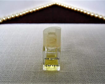 CARVEN Ma Griff Vintage Micro Mini Perfume Bottle Collectible Miniature Perfume Bottle Magriffe Marked sgd