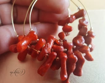 Red Coral, Coral Bead, Freeform Coral Bead, Red Coral Branch,Jewelry Supply, Gemstone Bead, DIY Supply, Craft Supply