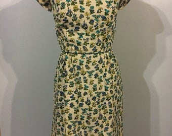 Beautiful 1950s Lord and Taylor silk dress