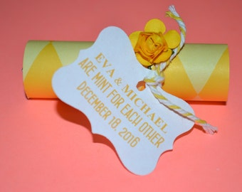 Mint Wedding Favors // Mint Wedding Favor // Mint For Each Other Wedding Favors //Mint Favors -- Yellow -- Quantity 25