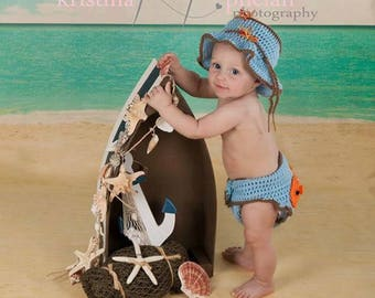 Beach Scene and Sand - Vinyl Photography  Backdrop Photo Prop