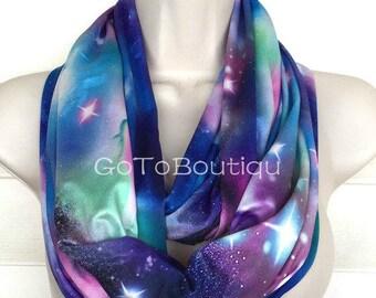 Galaxy Infinity Scarf, Women Scarf, Fashion Scarf, Loop scarf.