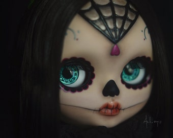 OOAK Custom Blythe Doll - Ruth Calavera by Art_emis