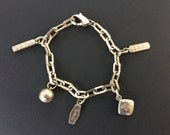 RESERVED Vintage Authentic Tiffany & Co. Sterling Silver 925 Charm Bracelet - 1875 Ball and Tags - Fine Jewlery Gift for Her Vintage