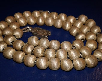 TAXCO MEXICO Sterling Silver Bead Necklace Vintage Handmade