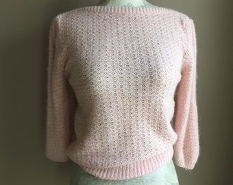 Vintage 1980's Angora and Silk Sweater