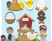 2017 The  Hen House  Clip art  Clipart Graphics  Commercial Use