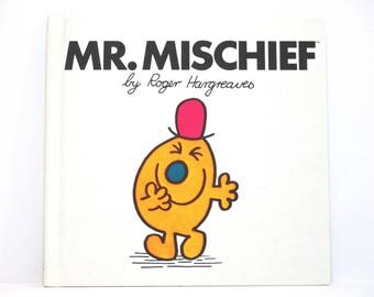 Mr. Mischief by Roger Hargreaves 1980 Vintage Hardcover Book