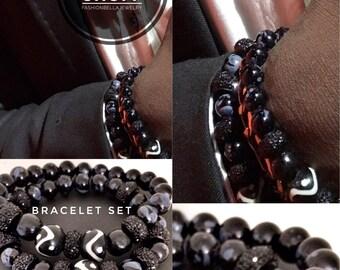 African bling bracelet, beaded bracelet