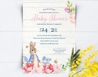 Peter Rabbit Invites   Peter Rabbit Shower Invitations   Peter Rabbit Baby  Shower   DIY Baby
