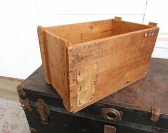 German Wood Box For Clock - Sturdy - Useful Wood Box - Shipping Box - Blankets - Towels - Picnic Stuff - German Made Box From 1954