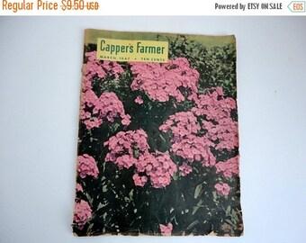 SALE Vintage Garden Magazines Set of 2 Farm 1940s Paper Ephemera Altered art Supplies