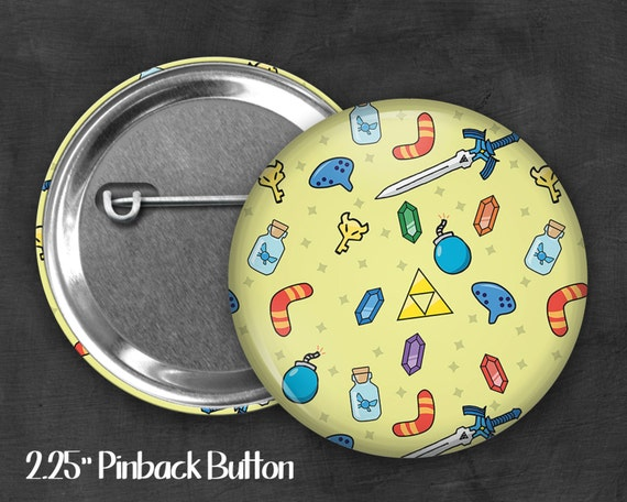 "Fandom 2.25"" Link Pinback Button, Geek Button, Geekery, Button, Kawaii Button, Badges, Flare"