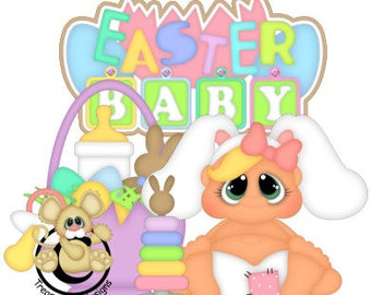 Easter die cuts, scrapbook die cuts, scrapbooking, die cuts, Easter, Easter scrapbook, Easter baby, scrapbook, embellishments, card making