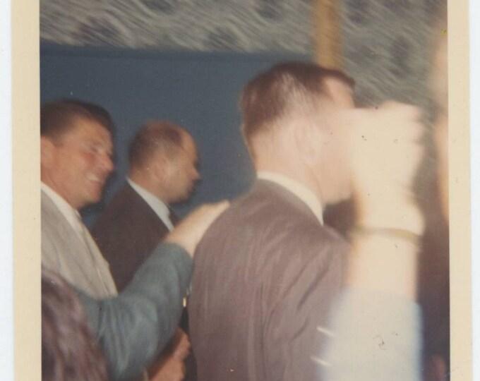 Vintage Snapshot Photo: Ronald Reagan, Secret Service, c1960s (612525)