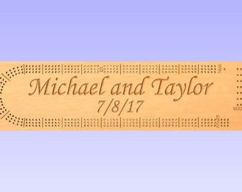 Custom made Cribbage Board for Michael and Taylor